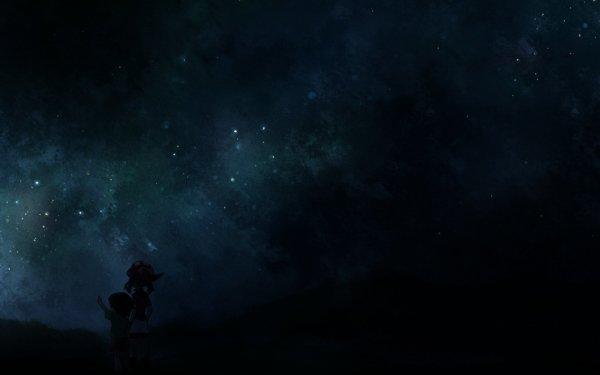 Anime Pokémon May Max Noche Cielo Estrellas Starry Sky Fondo de pantalla HD | Fondo de Escritorio