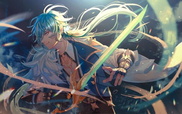Videospel Genshin Impact Kaeya HD Wallpaper | Achtergrond