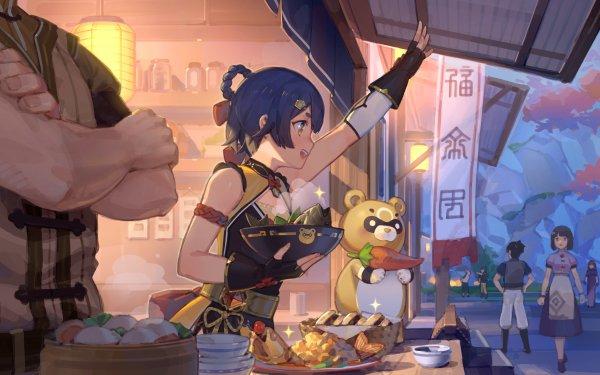 Video Game Genshin Impact Xiangling Guoba HD Wallpaper | Background Image