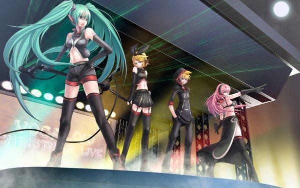 Anime Vocaloid Hatsune Miku Len Kagamine Rin Kagamine Luka Megurine HD Wallpaper | Background Image