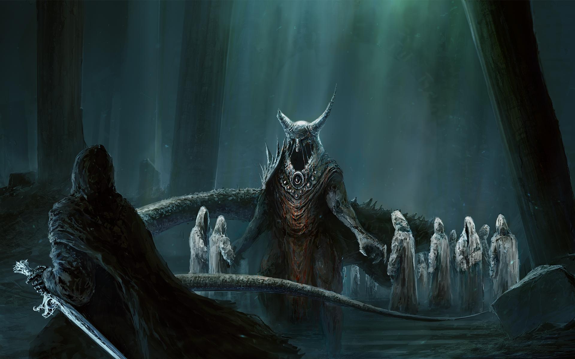 Alpha Coders | Wallpaper Abyss Dark Warrior 115704