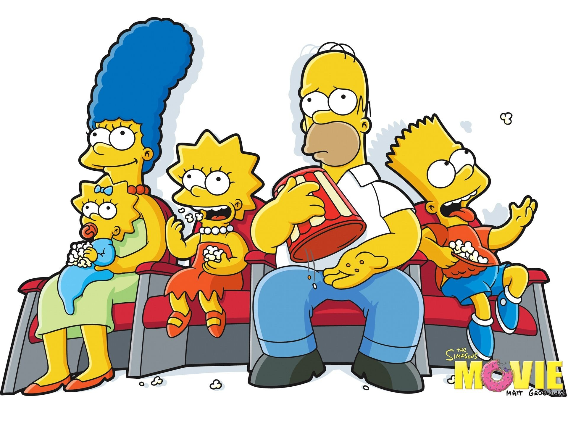 Movie - The Simpsons Movie  Maggie Simpson Marge Simpson Lisa Simpson Homer Simpson Bart Simpson Wallpaper