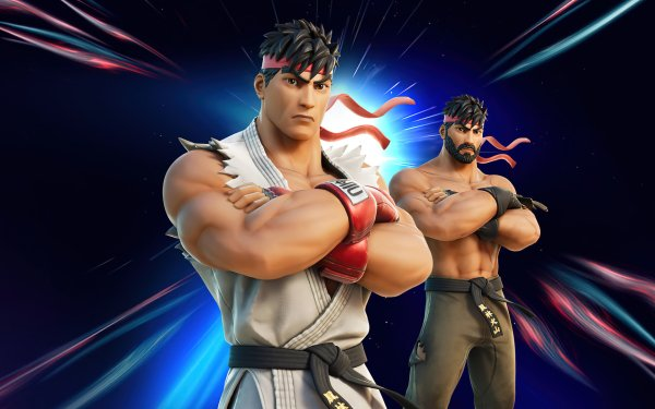 Video Game Fortnite Street Fighter Ryu HD Wallpaper | Background Image