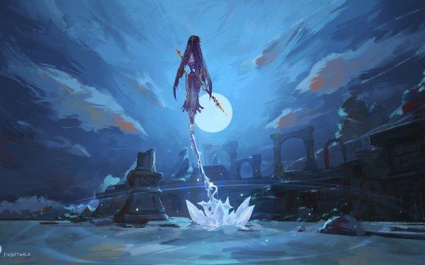 Video Game Genshin Impact Rosaria HD Wallpaper   Background Image