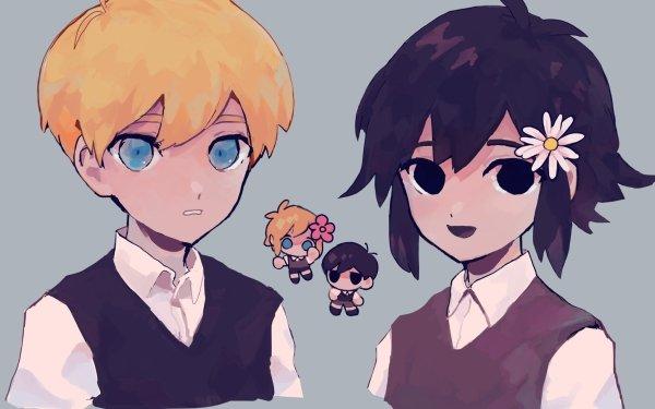 Video Game OMORI Sunny Basil Blonde Black Hair Boy Blue Eyes Black Eyes HD Wallpaper | Background Image