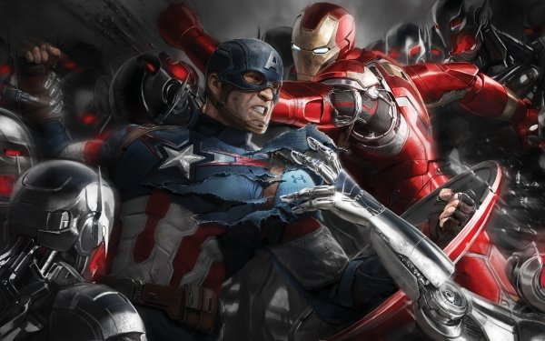 Film Avengers : L'ère d'Ultron Avengers Captain America Iron Man Ultron Fond d'écran HD   Arrière-Plan