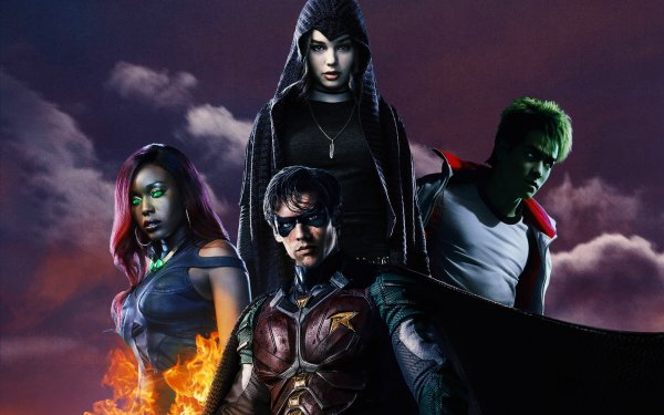 TV Show Titans Teen Titans Robin Dick Grayson Starfire Beast Boy Raven Ryan Potter Garfield Logan HD Wallpaper | Background Image