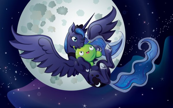 TV Show Crossover Princess Luna Mooncake My Little Pony: Friendship Is Magic Final Space Moon HD Wallpaper   Background Image