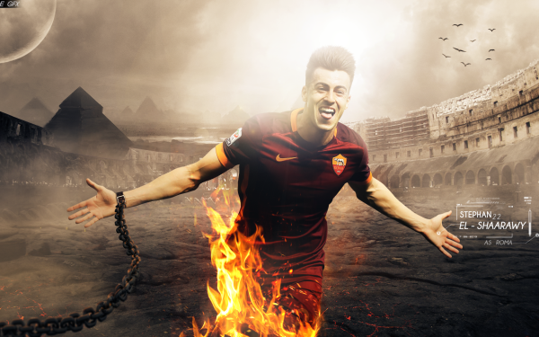 Sports Stephan El Shaarawy A.S. Roma HD Wallpaper   Background Image