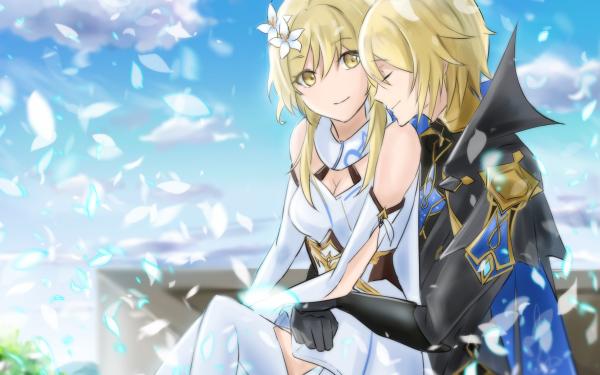 Video Game Genshin Impact Dainsleif Lumine HD Wallpaper   Background Image