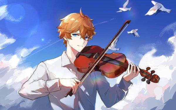 Video Game Genshin Impact Tartaglia Childe Violin HD Wallpaper | Background Image