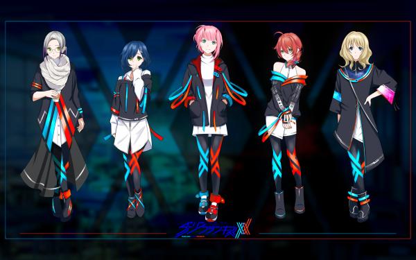 Anime Darling in the FranXX Zero Two Ikuno Ichigo Kokoro Miku Crossover HD Wallpaper | Background Image