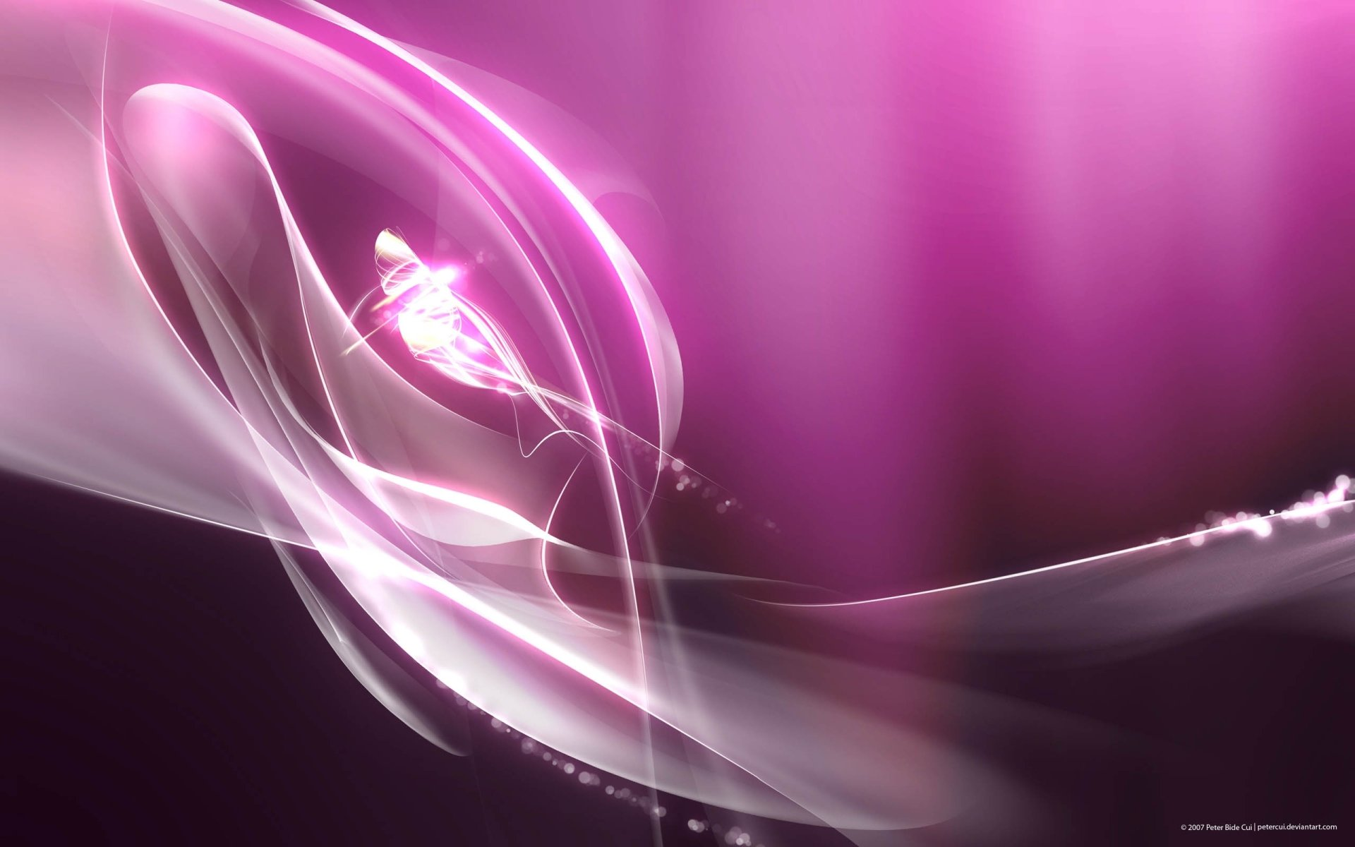 Abstract - Purple  Digital Abstract Pink Wallpaper