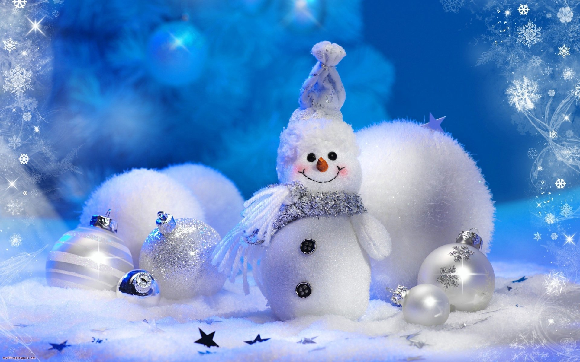 Holiday - Christmas  Christmas Ornaments Snowman Wallpaper