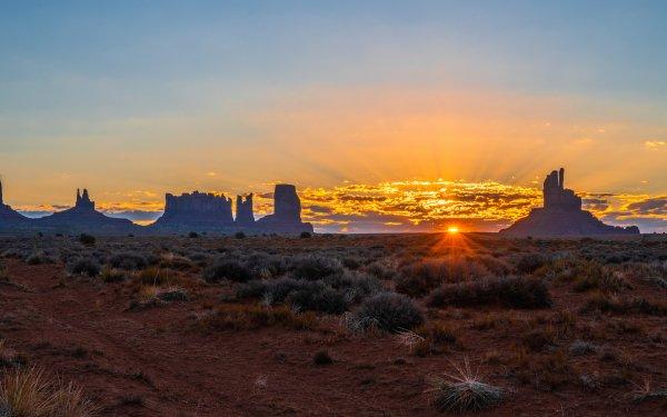 Earth Sunrise Desert Monument Valley HD Wallpaper   Background Image