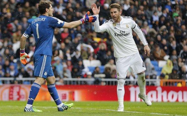 Sports Real Madrid C.F. Soccer Club Iker Casillas Sergio Ramos HD Wallpaper | Background Image