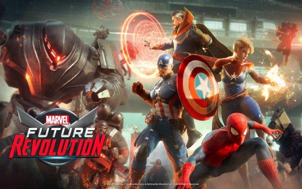 Video Game Marvel Future Revolution Captain America Spider-Man Captain Marvel Doctor Strange Peter Parker HD Wallpaper | Background Image