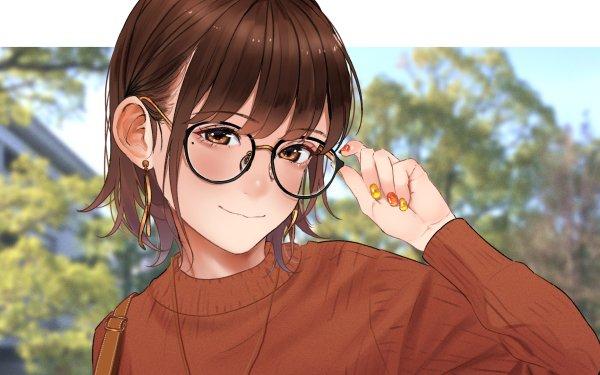 Anime Girl Acerola Saitou Glasses HD Wallpaper | Background Image