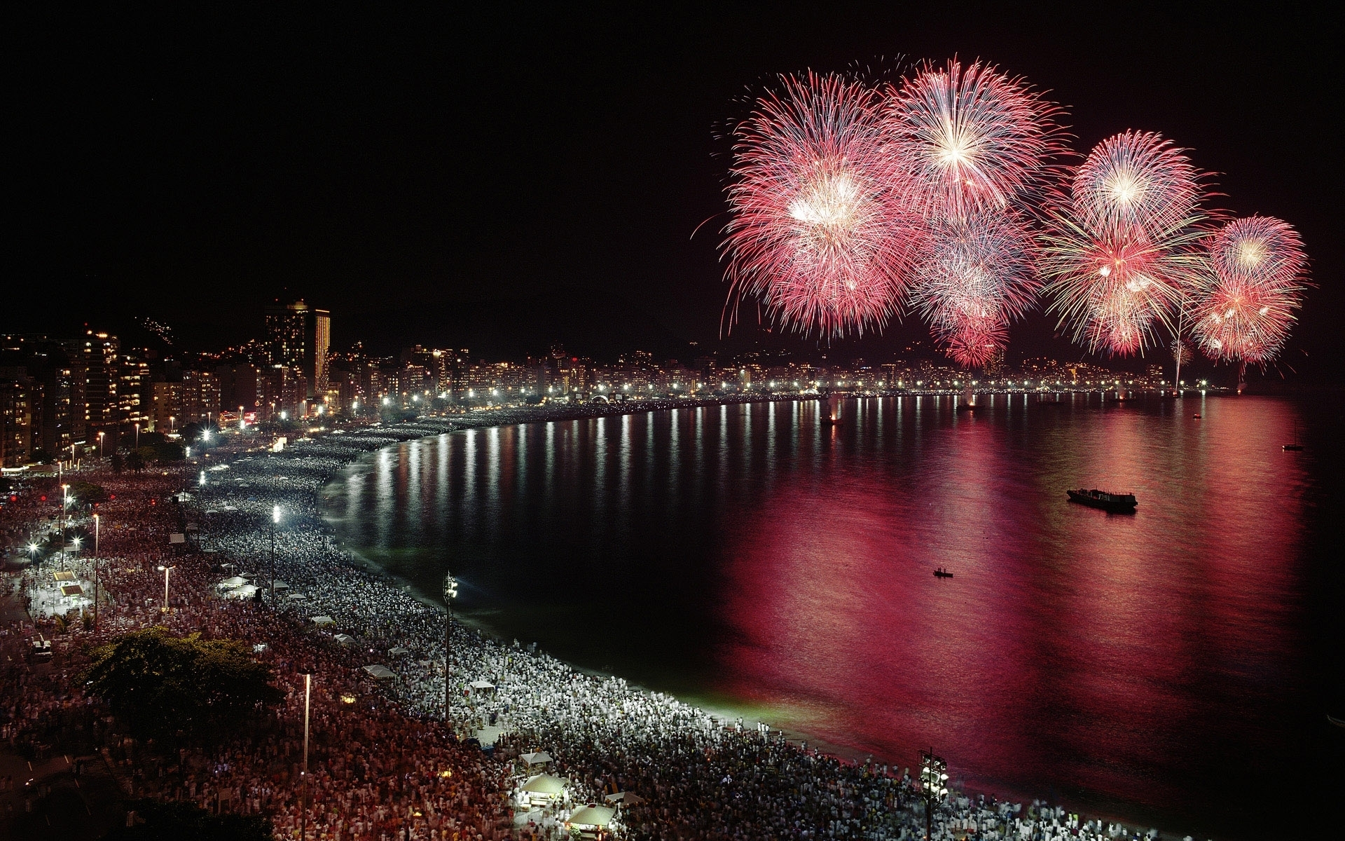 fireworks wallpaper widescreen