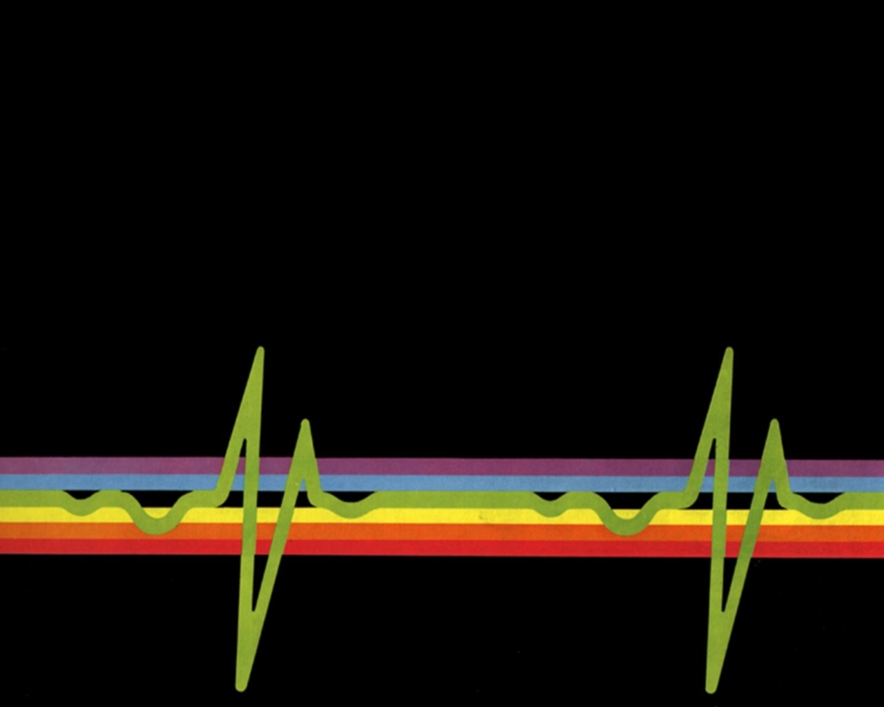 Pattern - Abstract  Heart Rate Rainbow Lines Colors Colorful Wallpaper