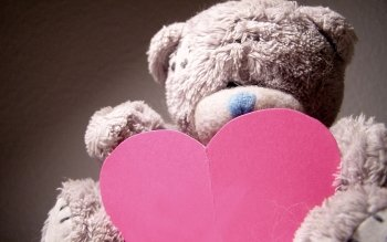 Cute pink teddy bear wallpapers for mobile