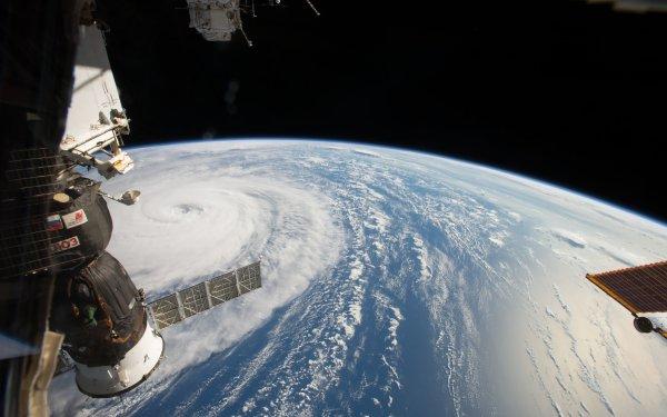 Earth Storm Atmosphere Aerial NASA Satellite International Space Station HD Wallpaper   Background Image