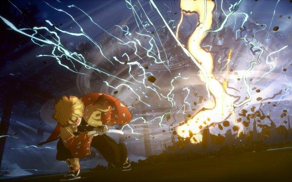 Video Game Demon Slayer -Kimetsu no Yaiba- The Hinokami Chronicles Zenitsu Agatsuma HD Wallpaper | Background Image