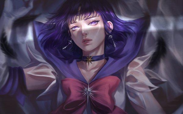 Anime Sailor Moon Sailor Saturn Hotaru Tomoe HD Wallpaper | Background Image