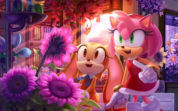 Video Game Sonic the Hedgehog Sonic Amy Rose Cream the Rabbit HD Wallpaper | Background Image