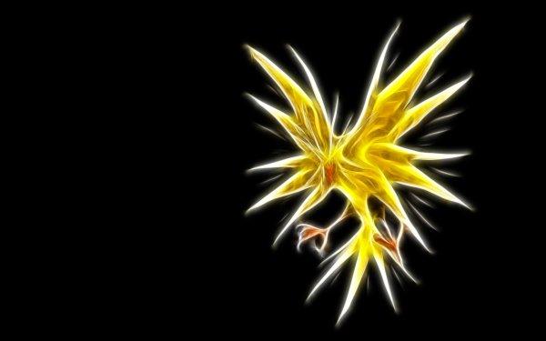 Anime Pokémon Zapdos Electric Pokémon Flying Pokémon Legendary Pokémon HD Wallpaper | Background Image