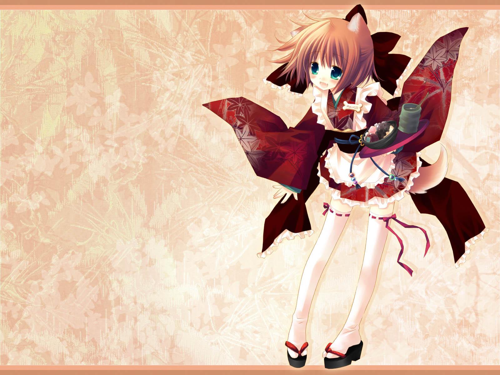 Anime - Flicka  Söt Anime Bakgrund