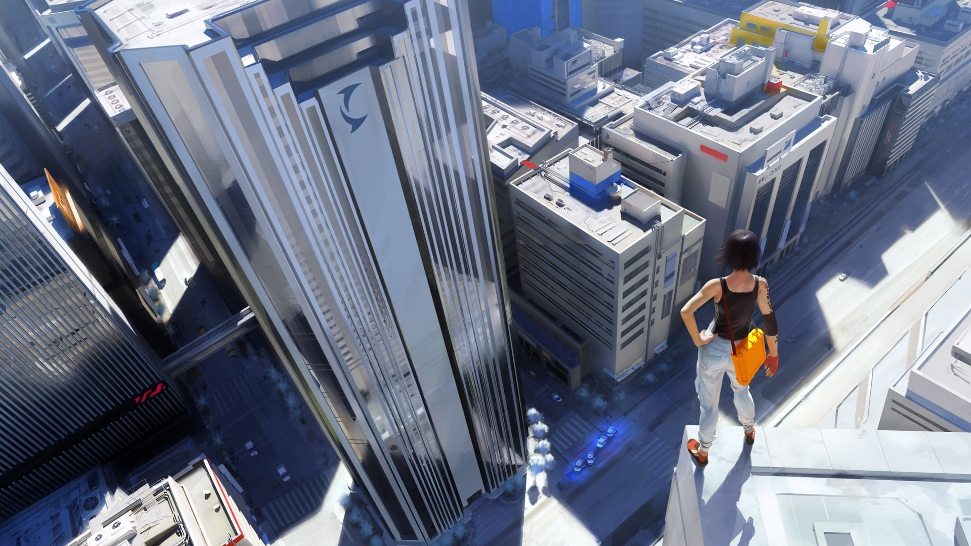 Video Game - Mirror's Edge  Woman Building Wallpaper