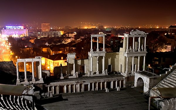 Man Made City Cities Dark Theatre Night HD Wallpaper | Background Image
