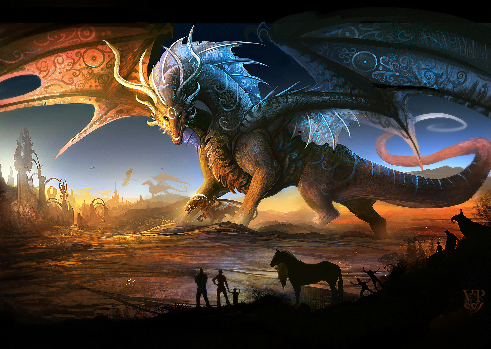 Dragon Hd Wallpaper Background Image 1920x1367 Id