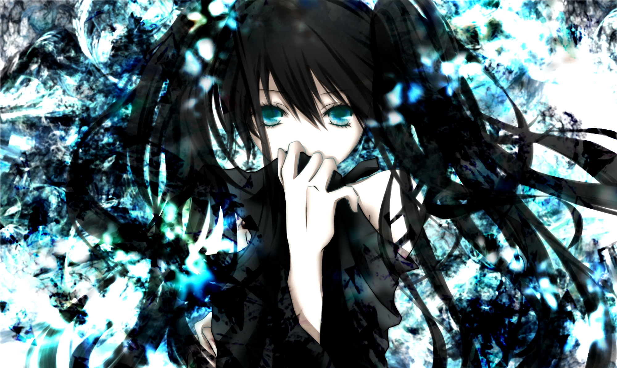 Black rock shooter full hd wallpaper and background image - Blue anime wallpaper ...