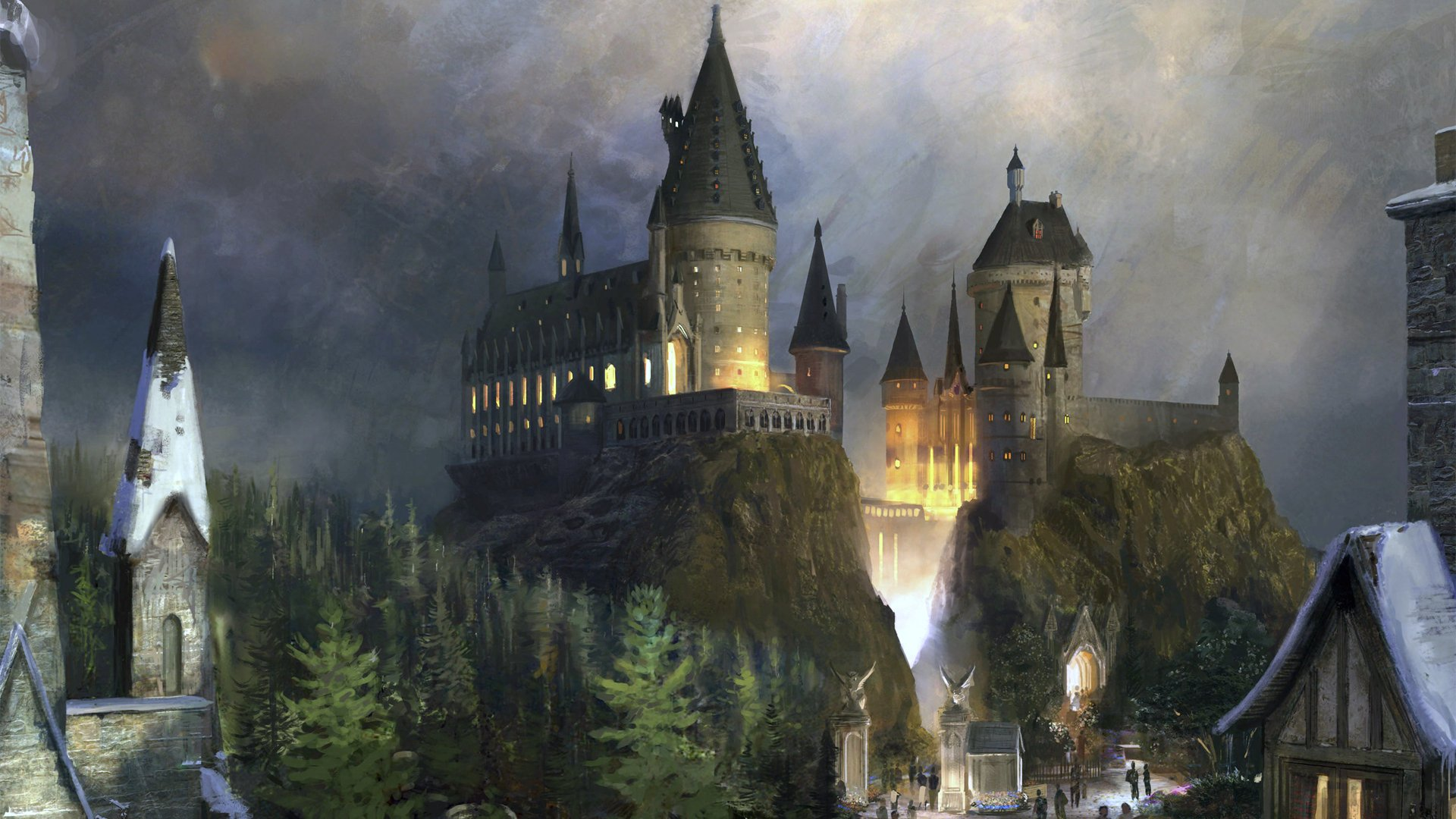 Fantasy - Castle  Hogwarts Castle! Wallpaper