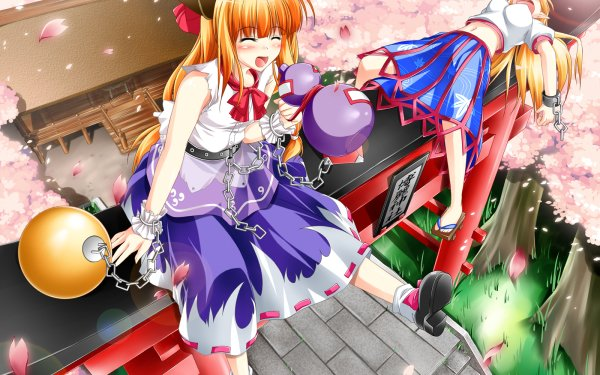 Anime Touhou Suika Ibuki Yuugi Hoshiguma HD Wallpaper | Background Image
