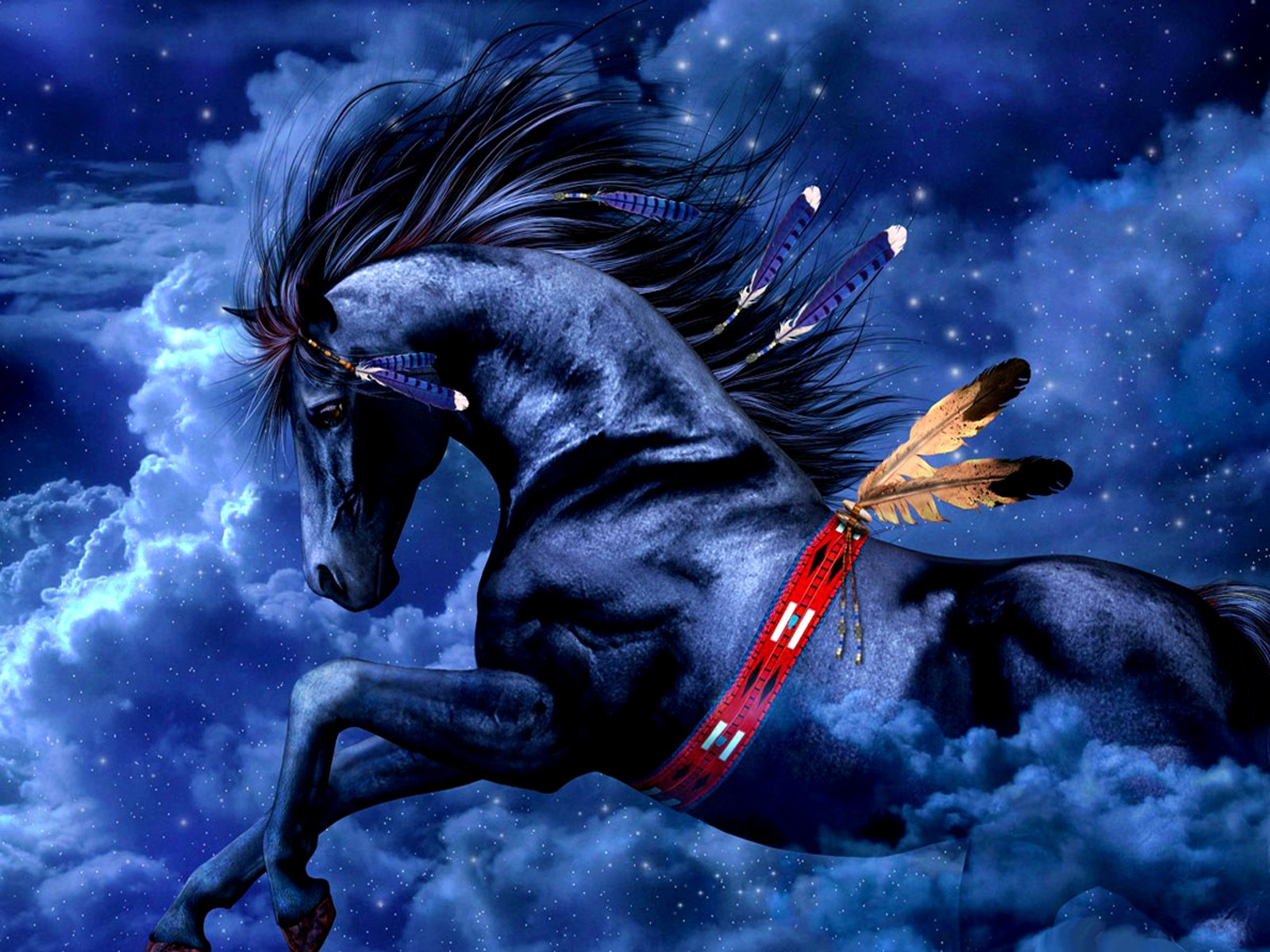 Fantasy - Horse  Beautiful Wallpaper