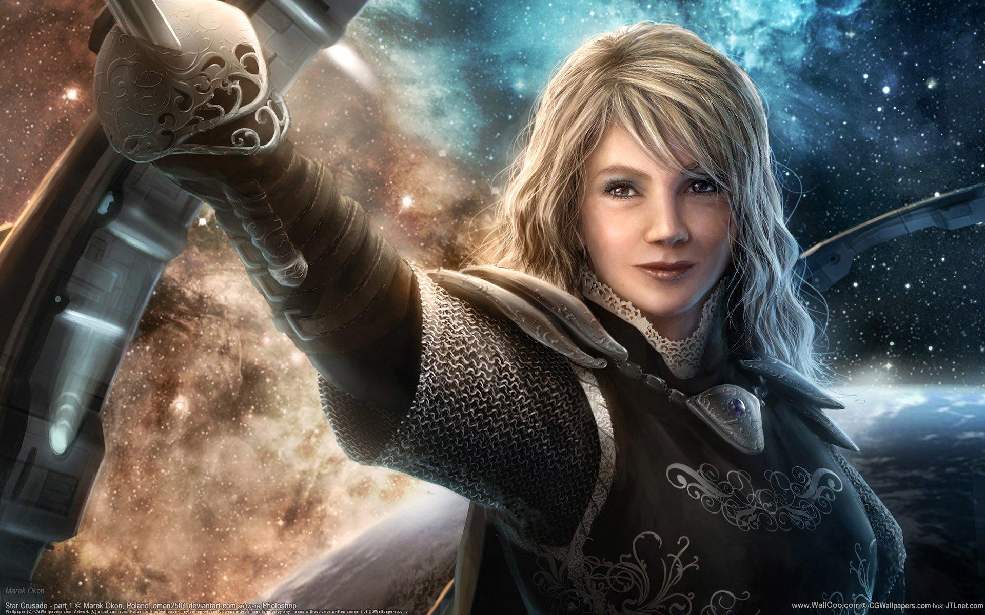 Elf warrior girl Anime mobile wallpaper