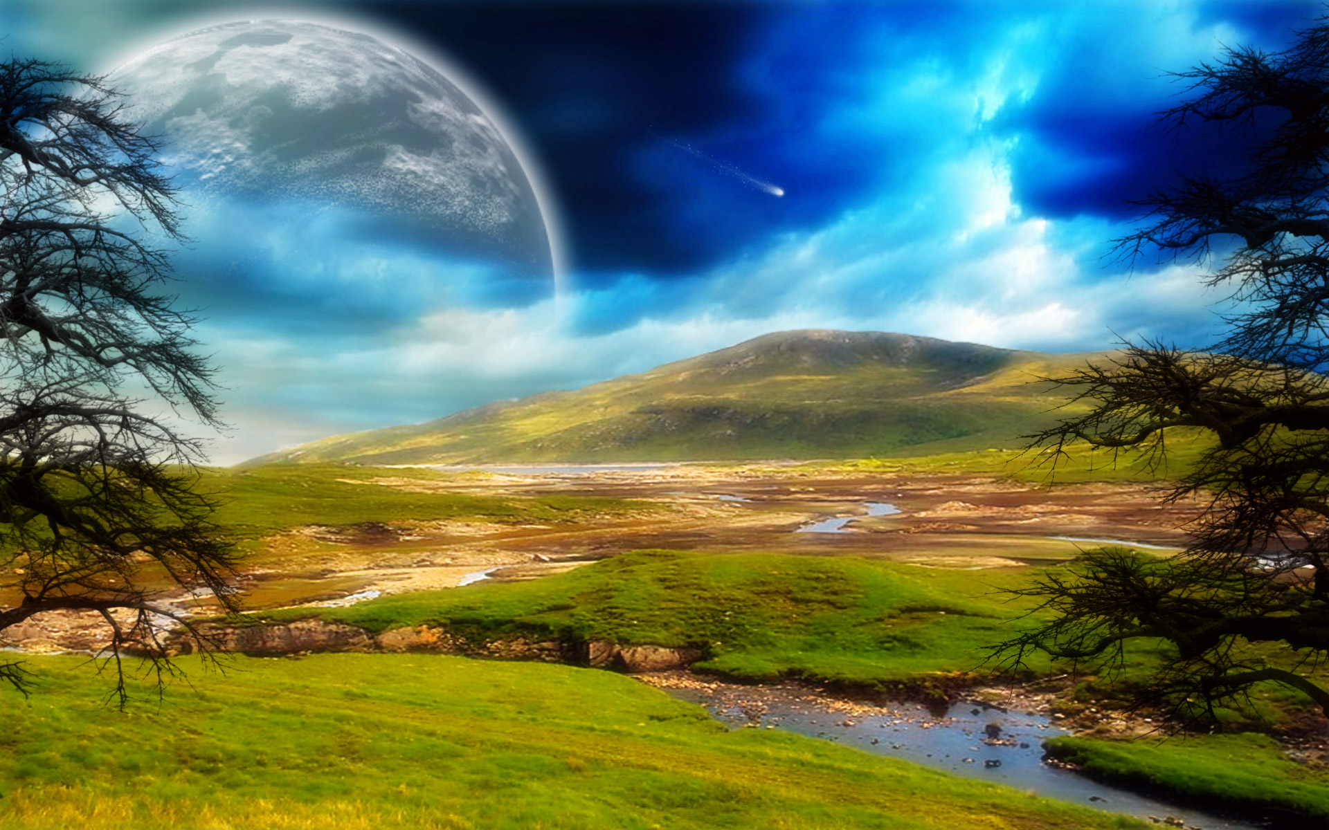 Science-Fiction - Landschaft Hintergrundbild