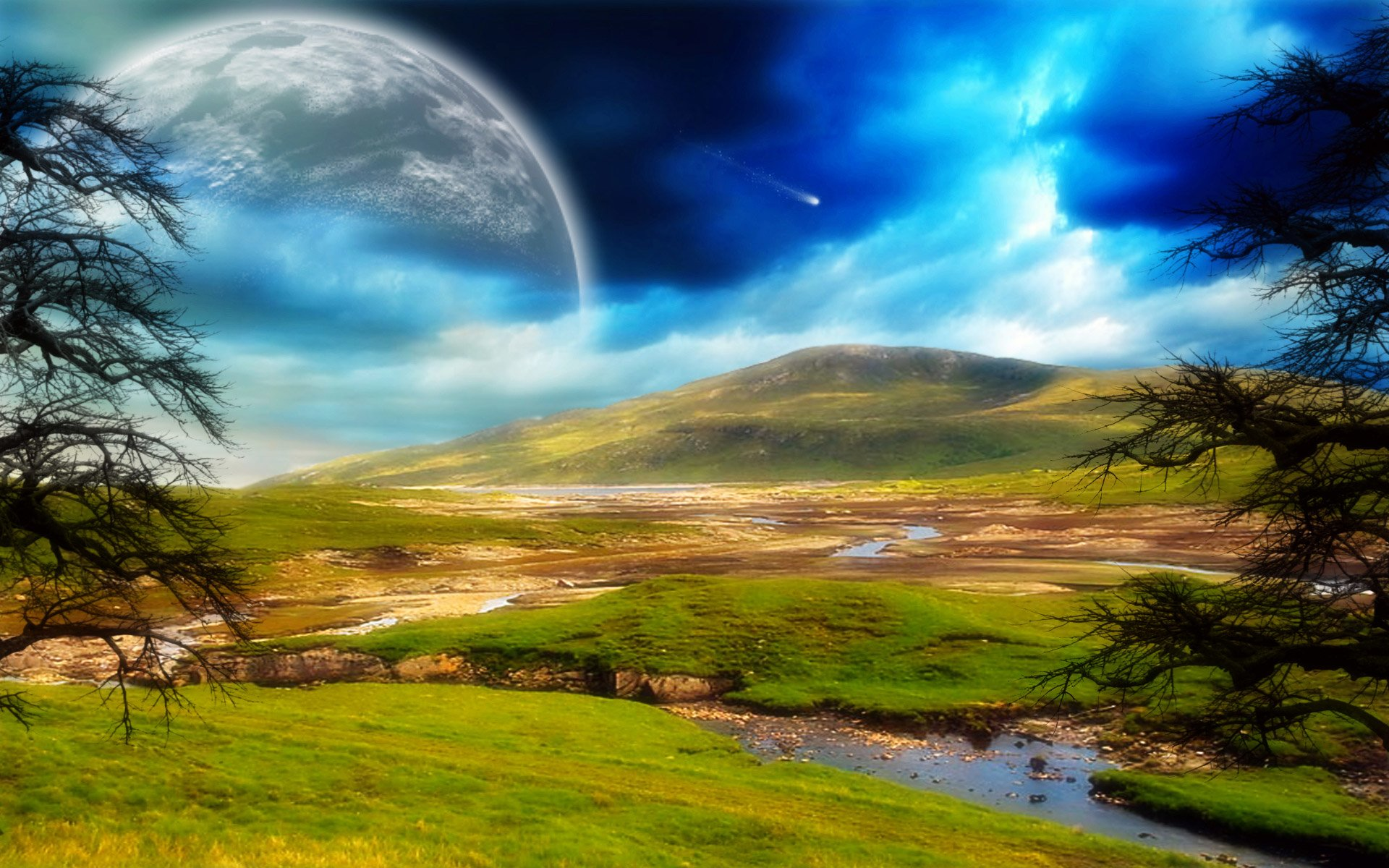 Science-Fiction - Landschaft  Wallpaper