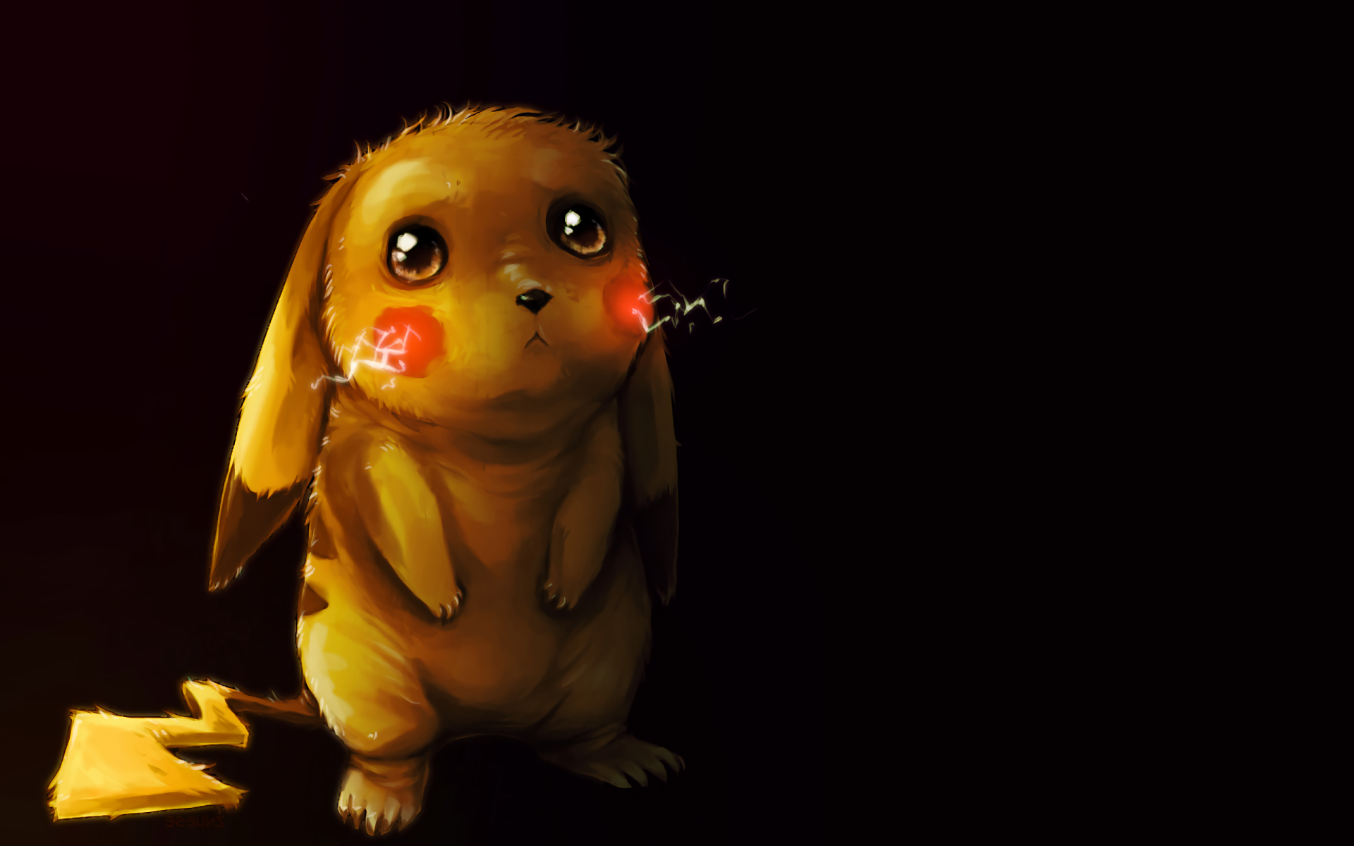 Anime - Pokémon  Pikachu Sad Cute Electric Pokémon Wallpaper