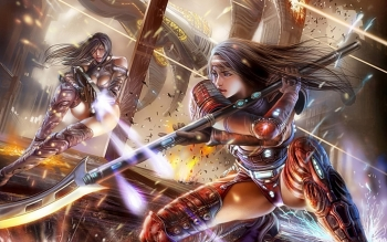 Fantasy - Women Warrior Wallpapers and Backgrounds