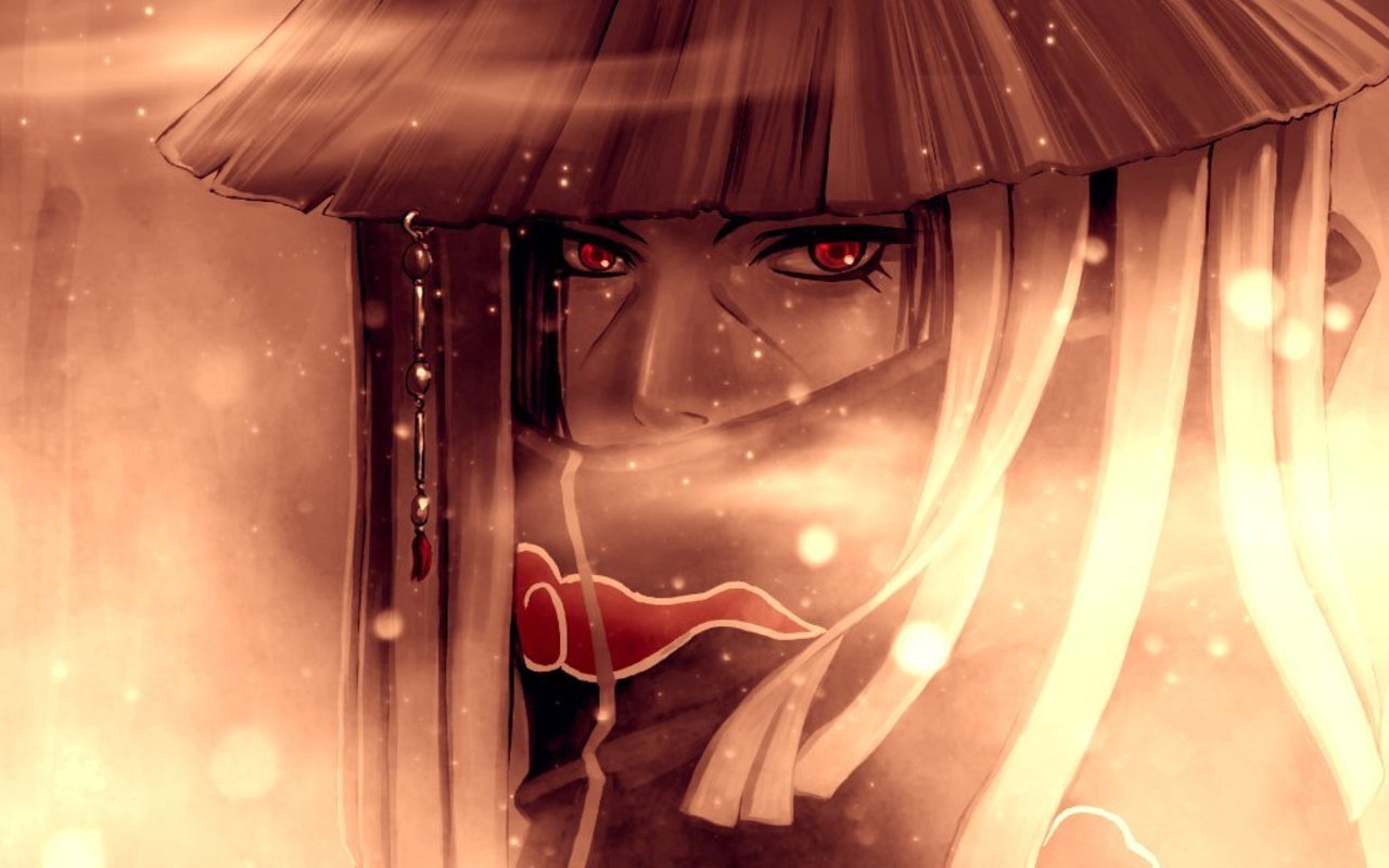 Anime - Naruto  Red Eyes Itachi Uchiha Anime Wallpaper