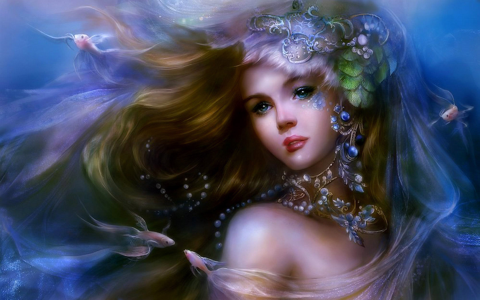 Fantasy - Women  Dreamy Sea Beauty Wallpaper
