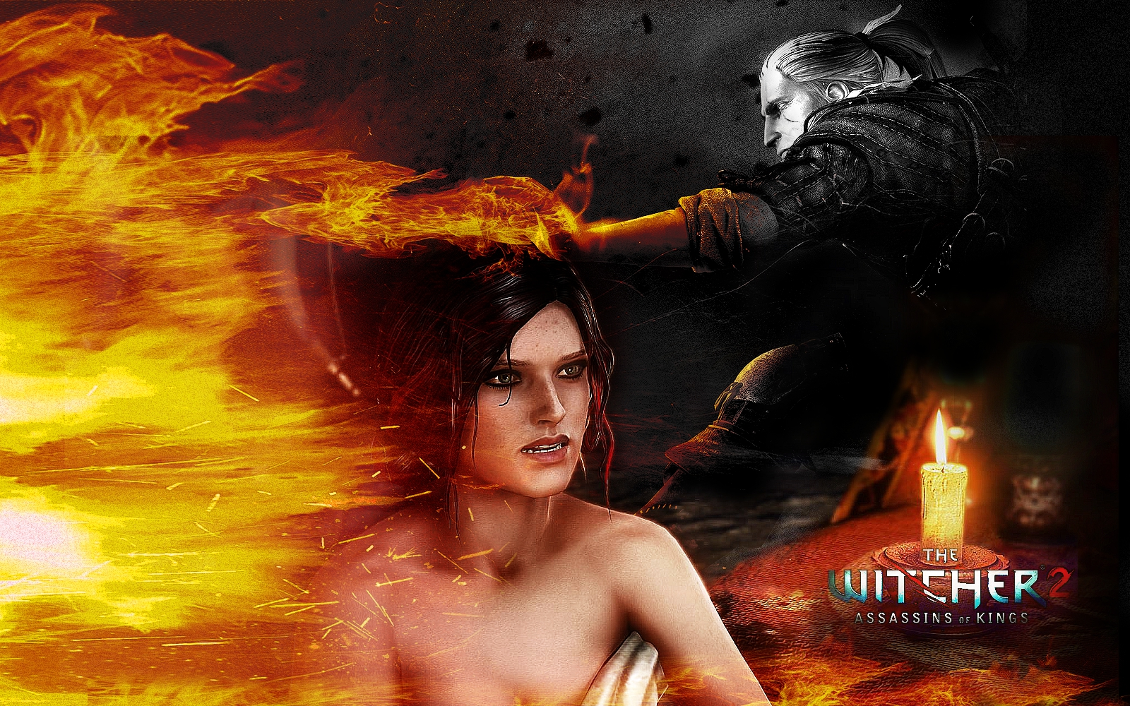 Video Game - The Witcher 2: Assassins Of Kings  - Witcher - Geralt - Triss Wallpaper