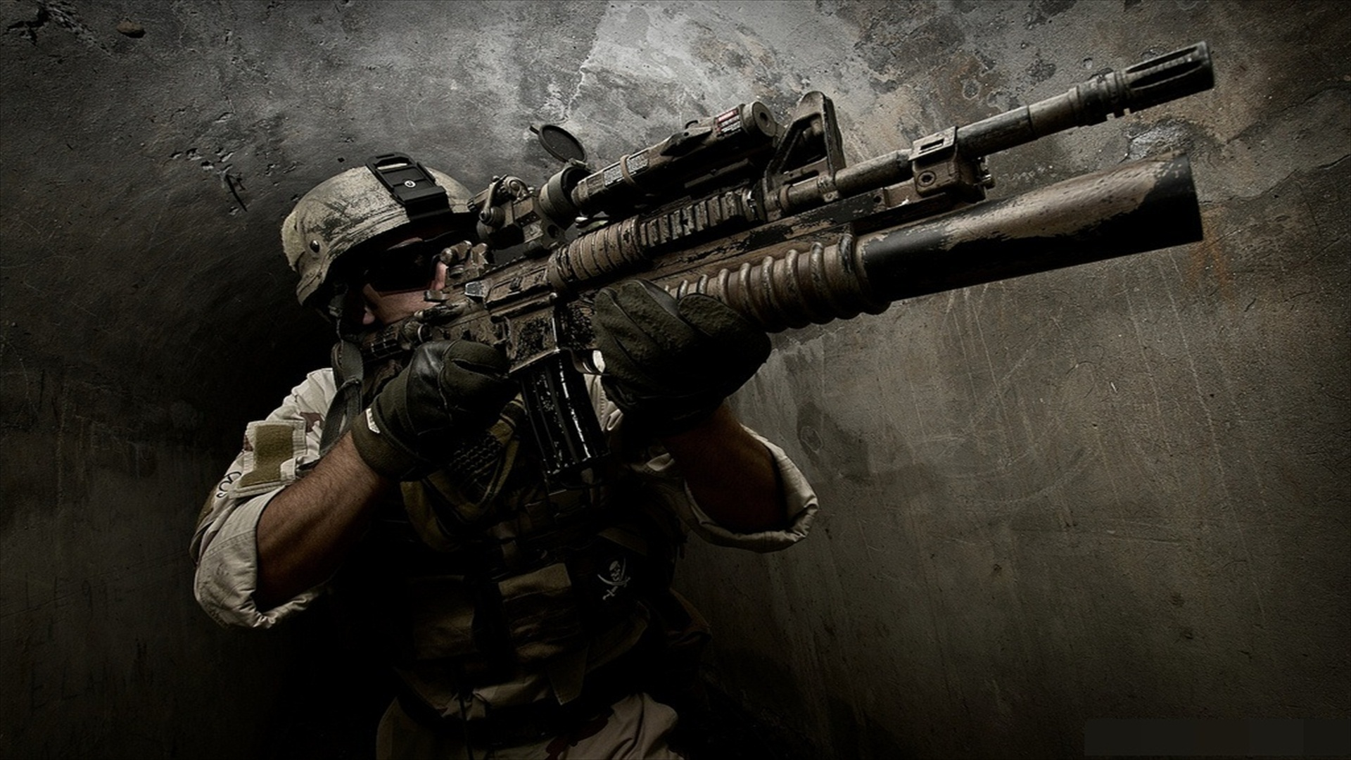 Love Wallpaper Of Army : Assault Rifle Full HD Wallpaper and Background Image 1920x1080 ID:141898