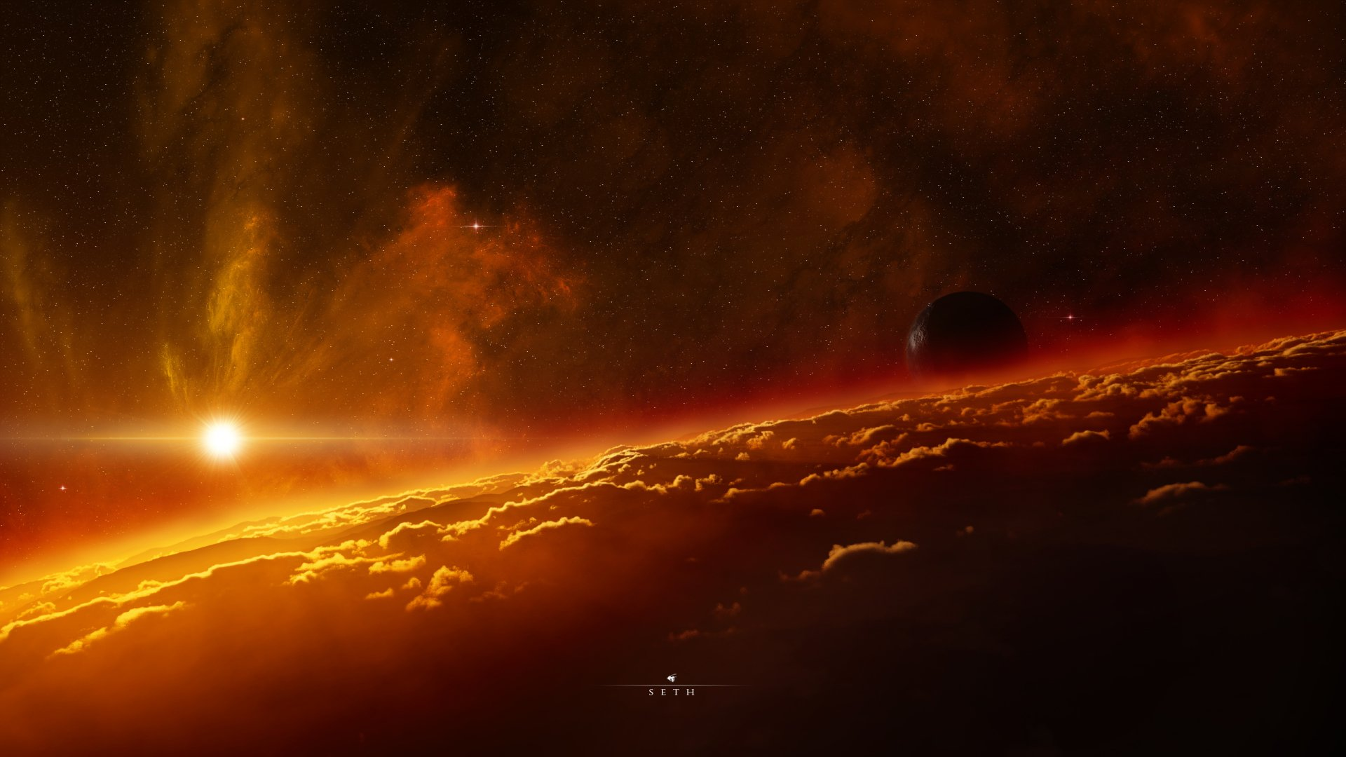 Sci Fi - Sunrise  Wallpaper
