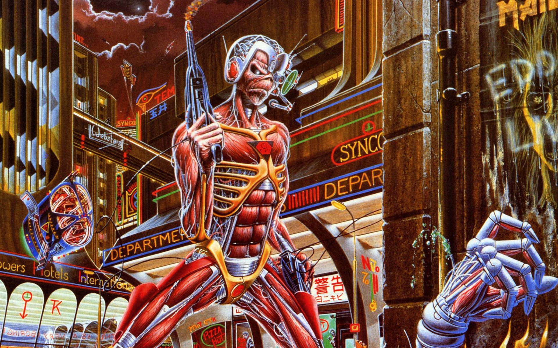 iron maiden somewhere in time full hd wallpaper and