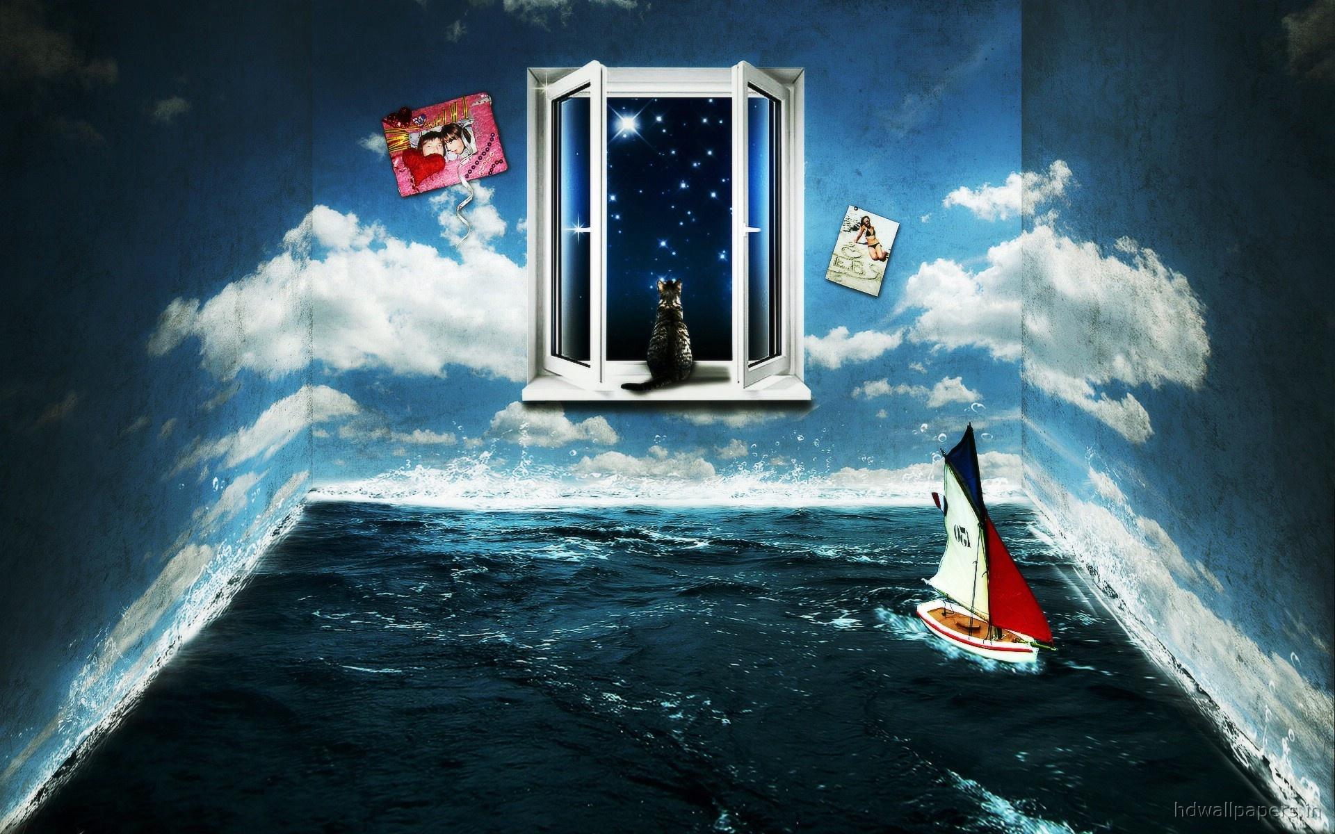 Image De Synthèse - Fantaisie  Pièce Fond d'écran